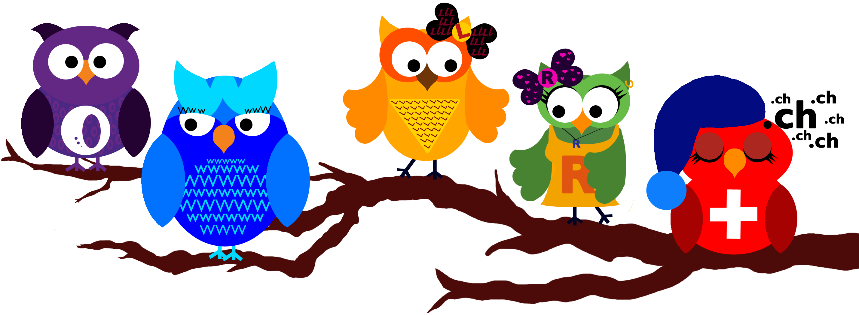 Branch with owls